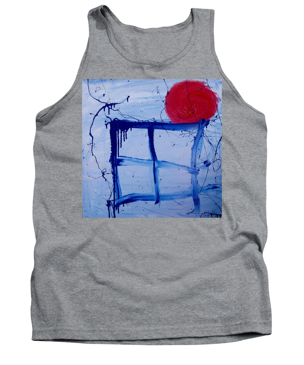 Sun Tank Top featuring the painting The Sun Through My Window by Wayne Potrafka