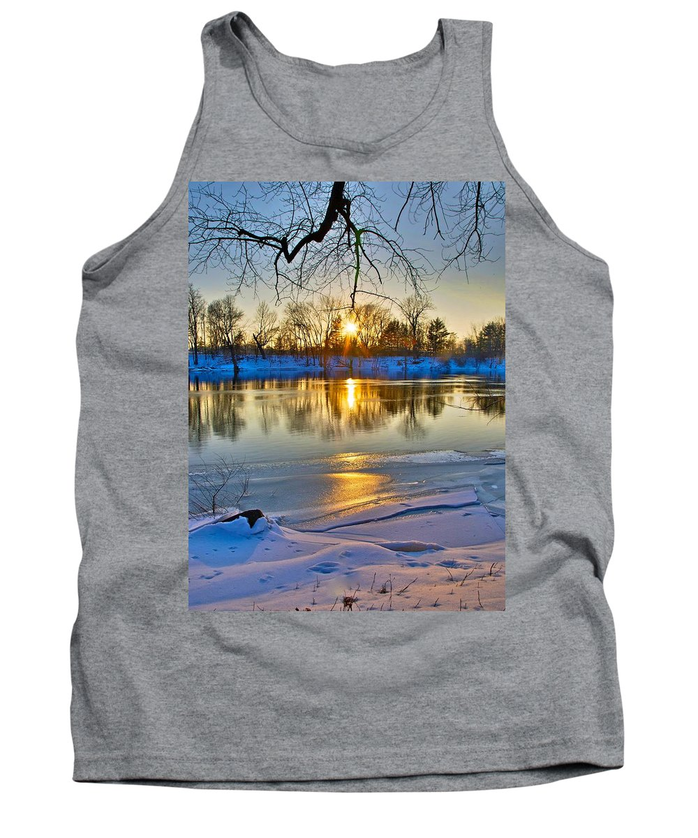 Snow Tank Top featuring the photograph The Sunny Side by Robert Pearson