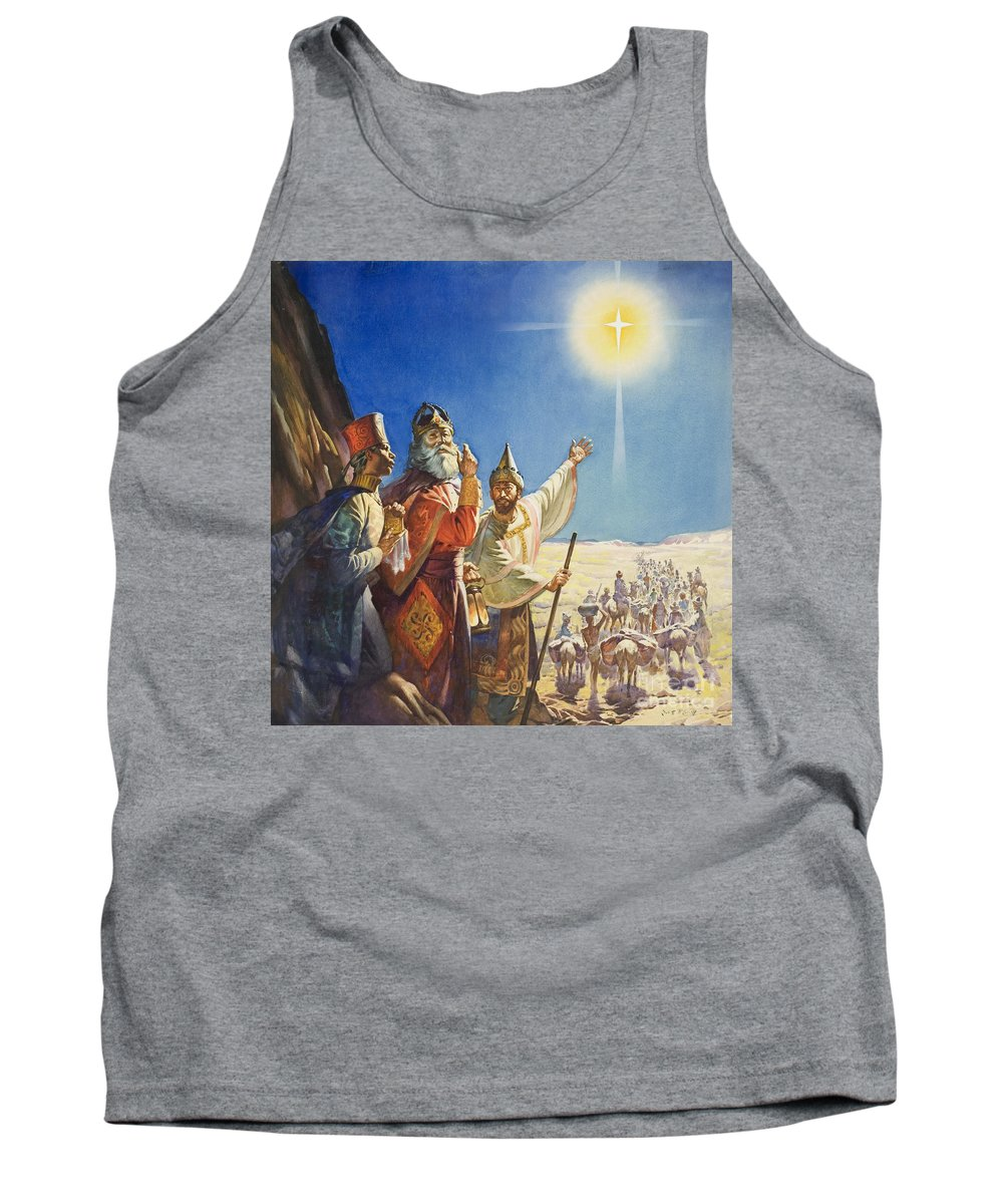 Magi; Caspar; Melchior; Balthasar; Desert Tank Top featuring the painting The Three Wise Men by James Edwin McConnell