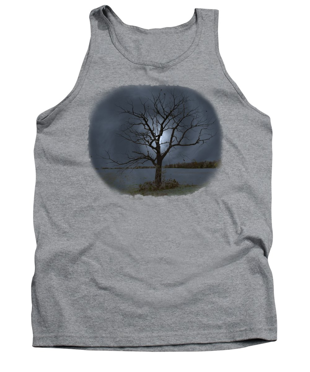 Landscape Tank Top featuring the photograph The Tree by John M Bailey