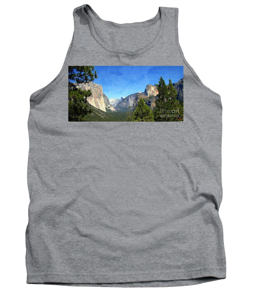 Panoramic Tank Top featuring the photograph The Valley Of Inspiration-yosemite by Glenn McCarthy Art and Photography