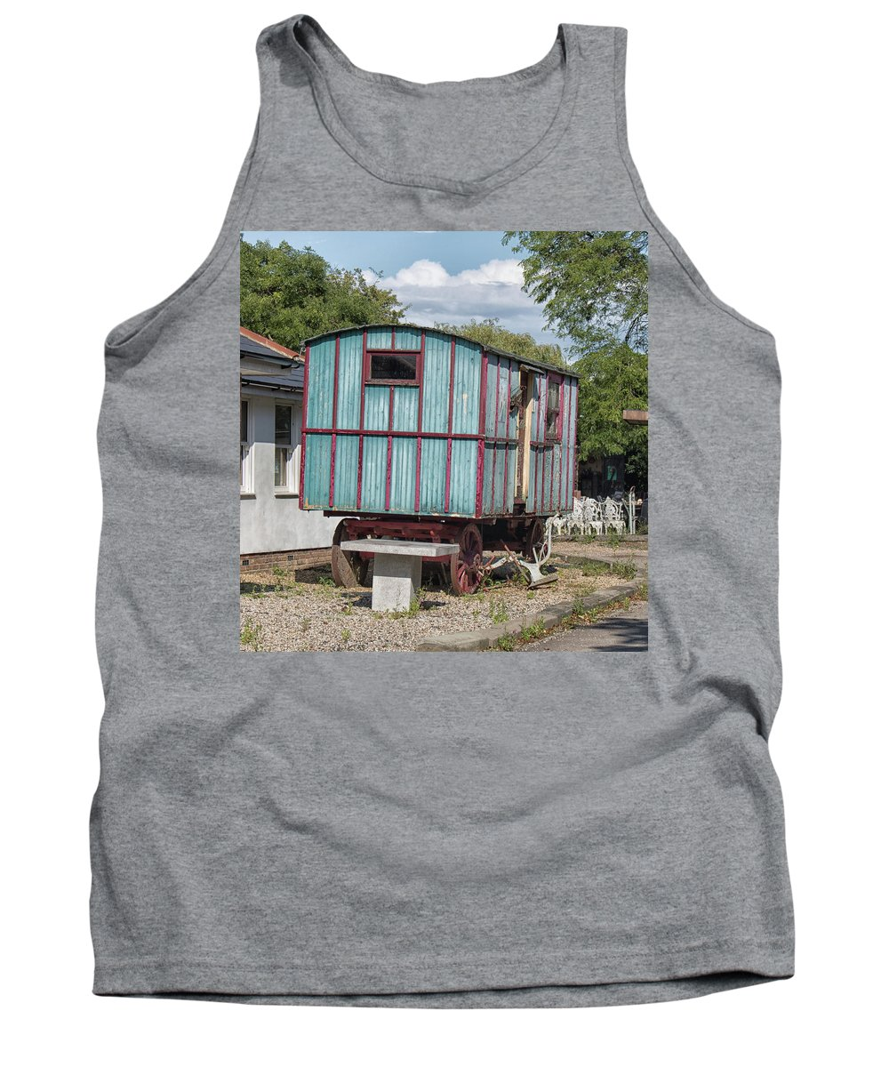 Caravan Tank Top featuring the photograph The Wagon by Martin Newman