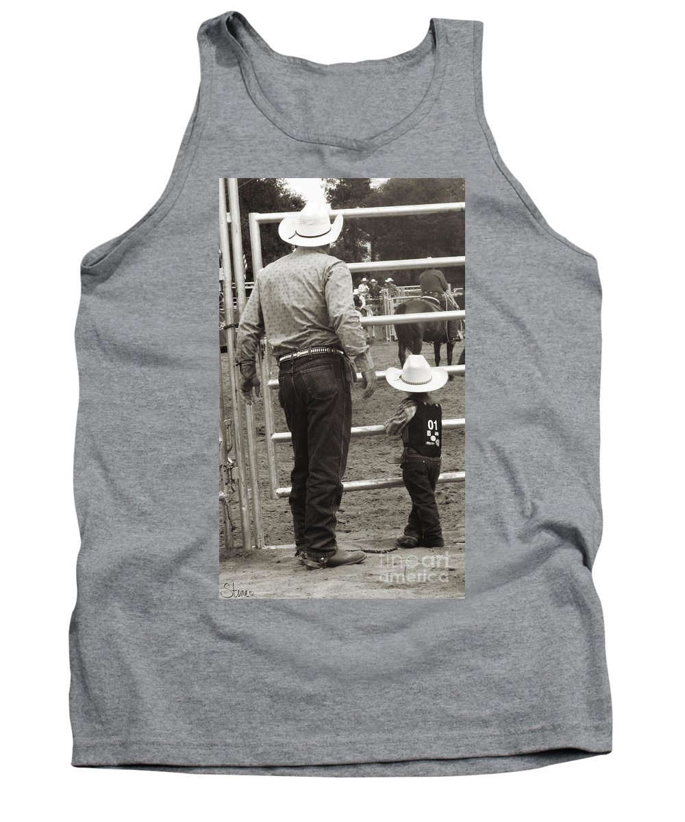 Rodeo Tank Top featuring the photograph The Wait by September Stone