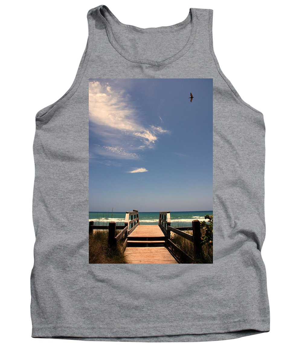 Way To The Beach Tank Top featuring the photograph The Way Out To The Beach by Susanne Van Hulst