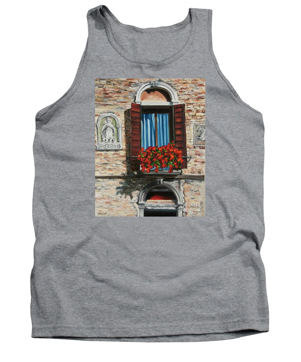 Window Paintings Tank Top featuring the painting The Window by Charlotte Blanchard