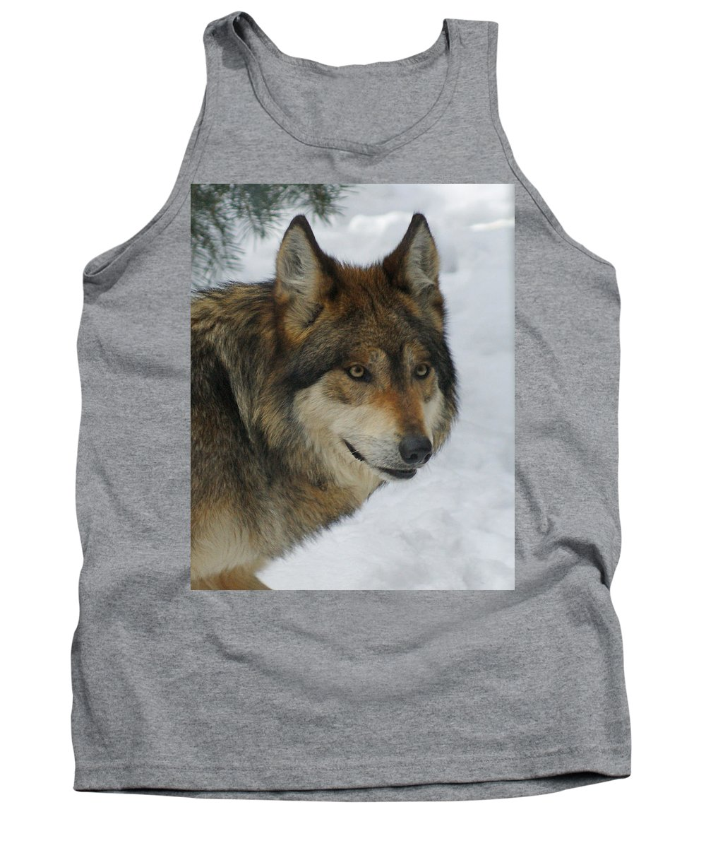 Wolf Tank Top featuring the digital art The Wolf 2 by Ernie Echols