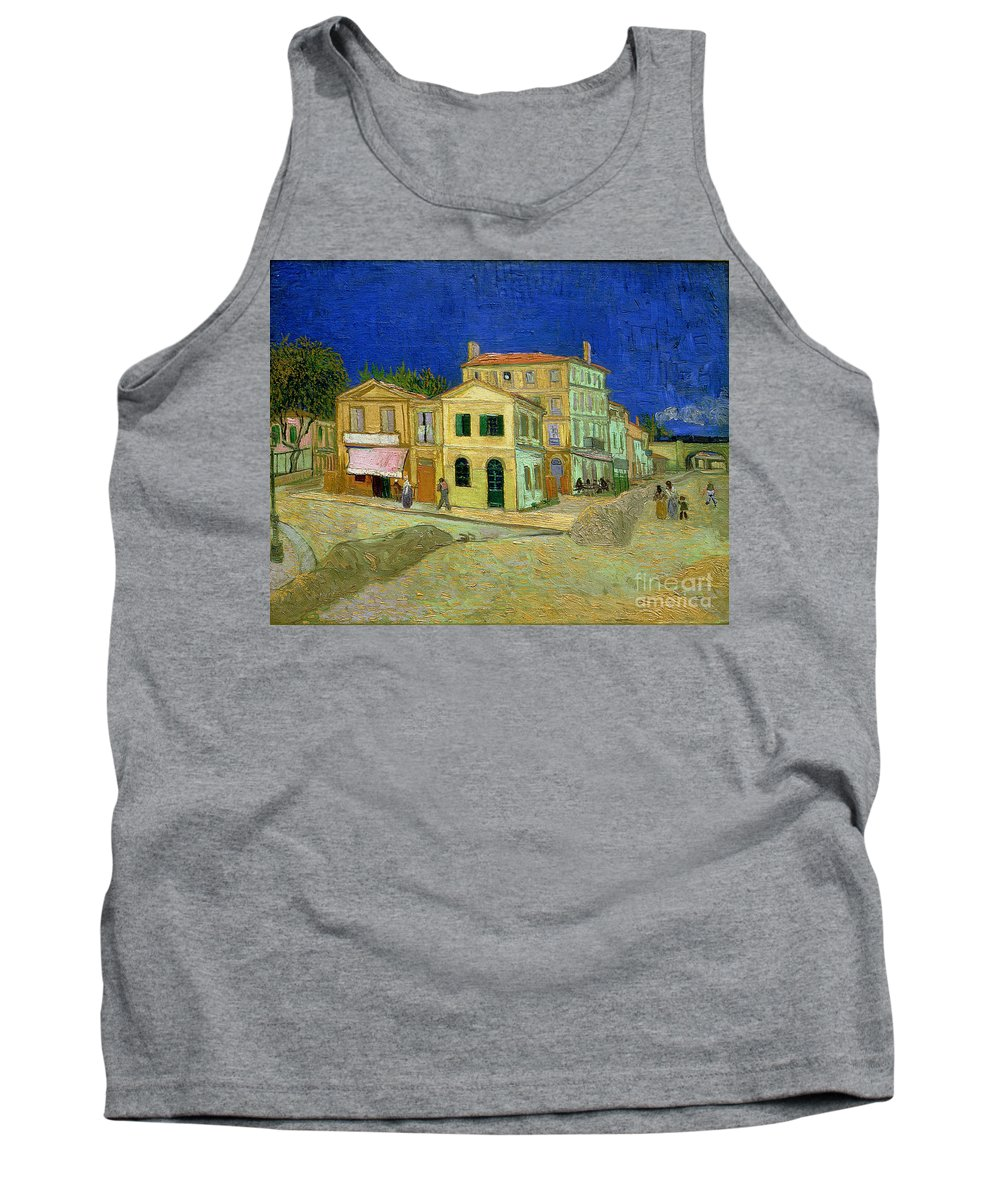The Tank Top featuring the painting The Yellow House by Vincent Van Gogh