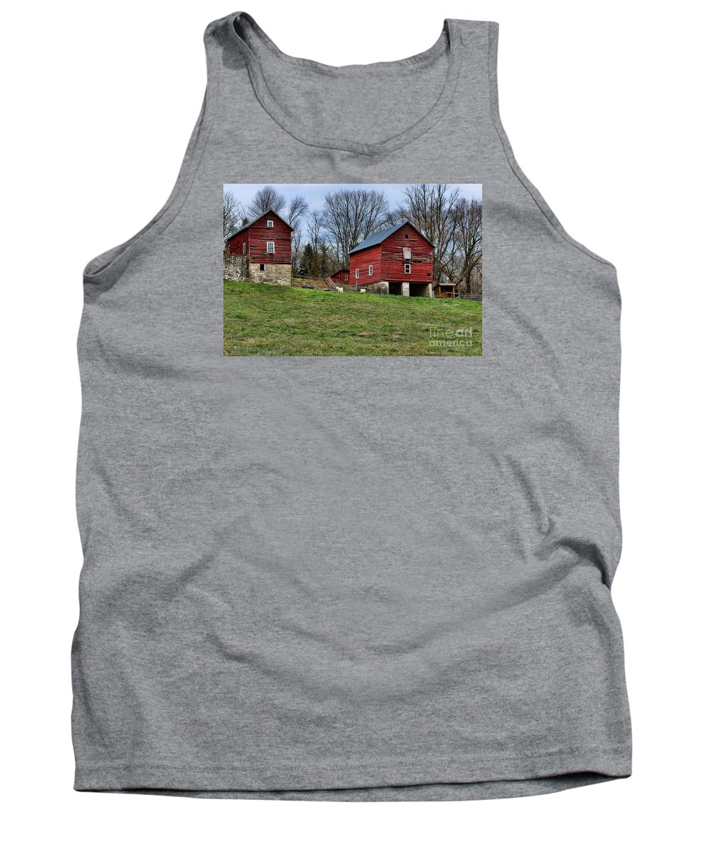 Paul Ward Tank Top featuring the photograph Them Goats Sure Work Hard by Paul Ward
