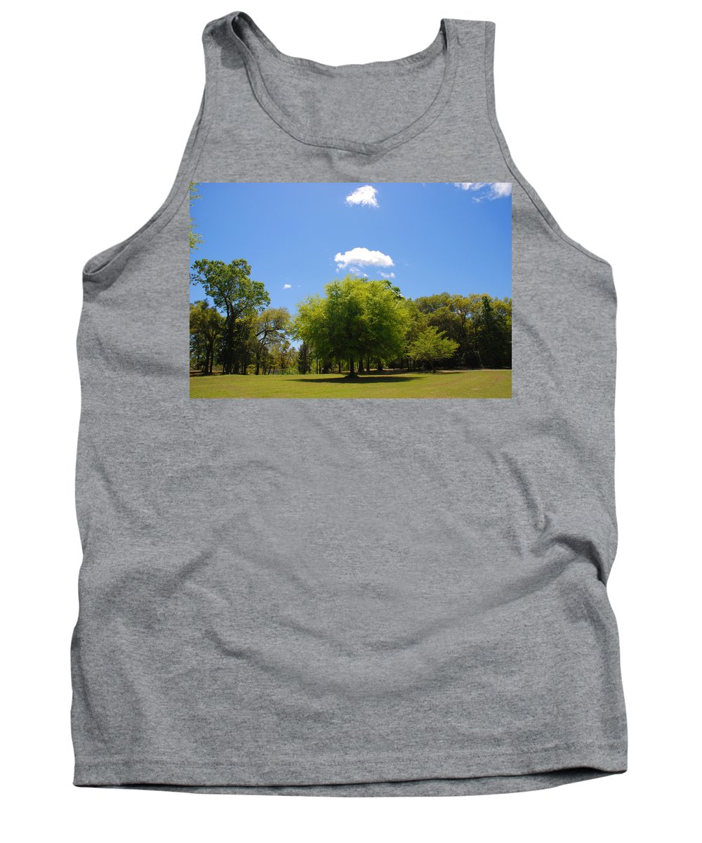 Photography Tank Top featuring the photograph There Are Some Clouds by Susanne Van Hulst
