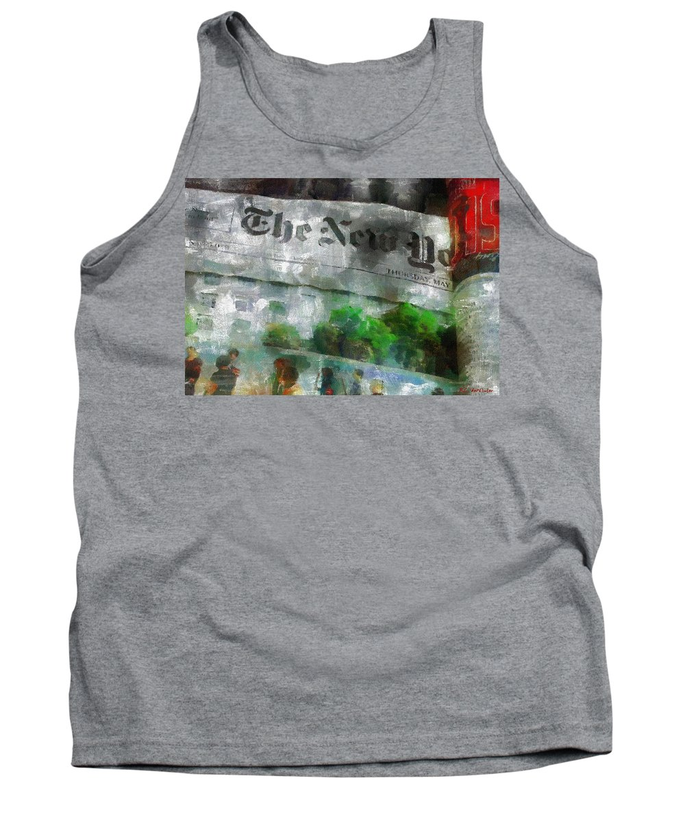 Editorial Tank Top featuring the painting There Is No News Fit To Print by RC DeWinter