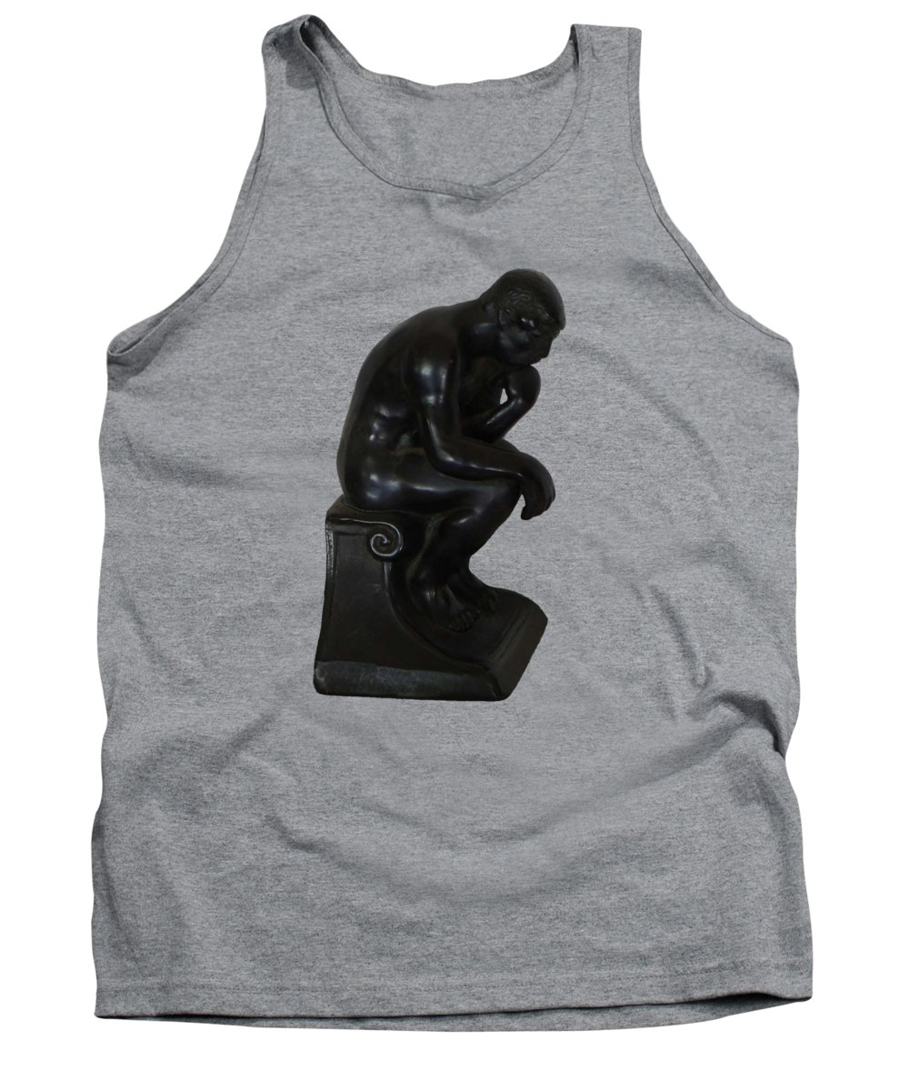 Rodin Tank Top featuring the photograph Think by Priscilla Wolfe