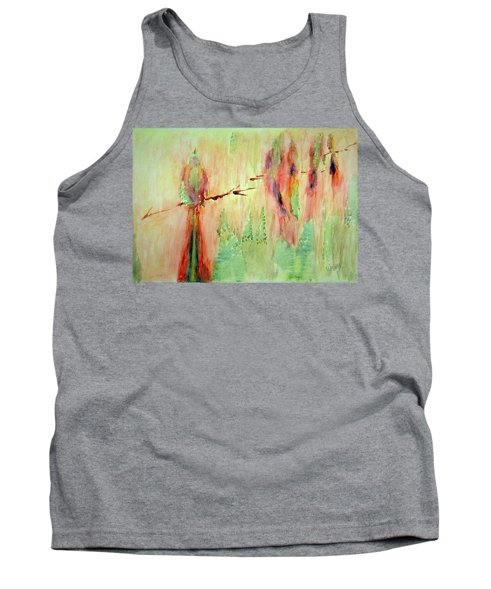 Abstract Art Tank Top featuring the painting This Must Be A Dream by Larry Wright