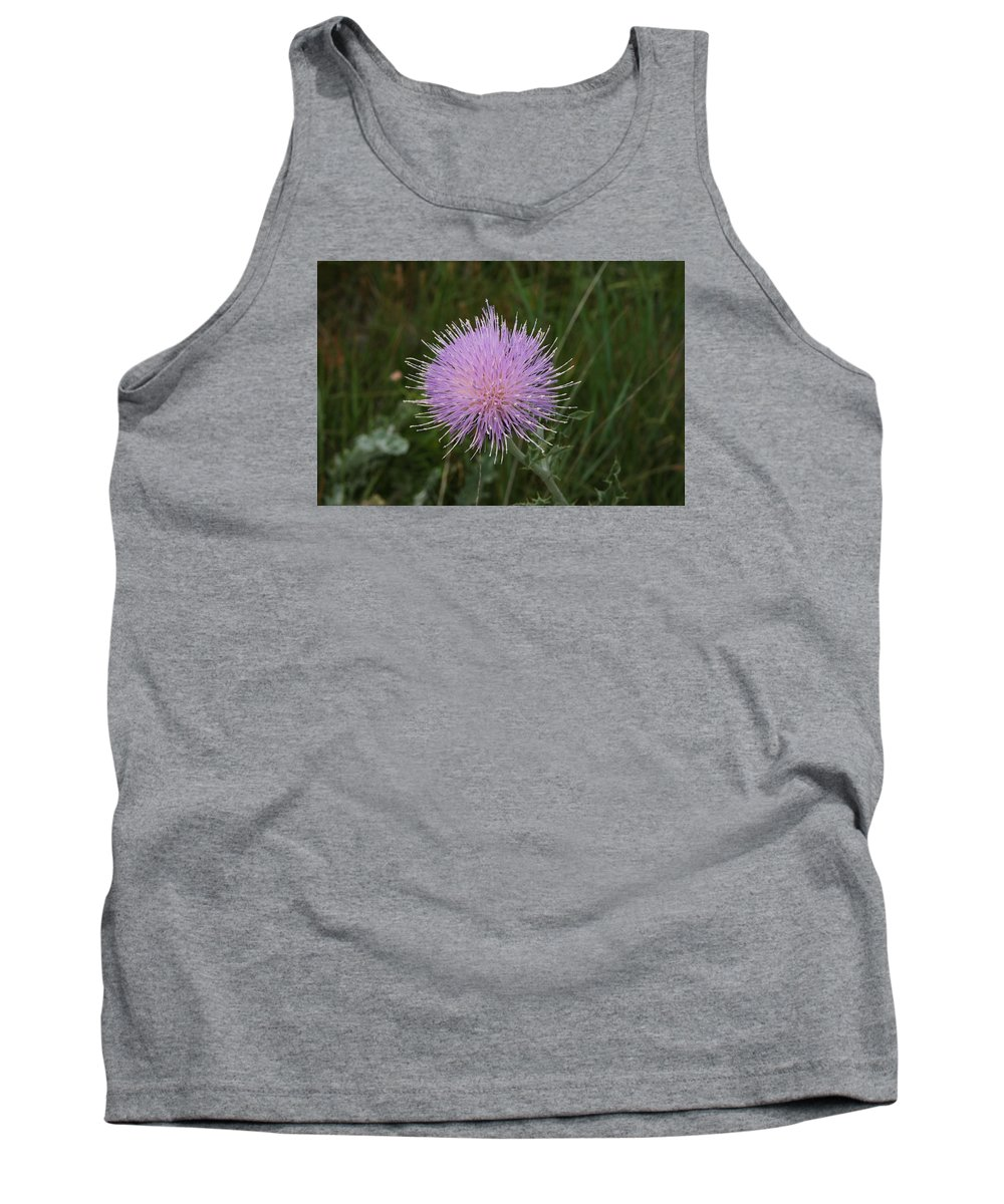 Floral - Thistle Tank Top featuring the photograph Thistle by Val Conrad