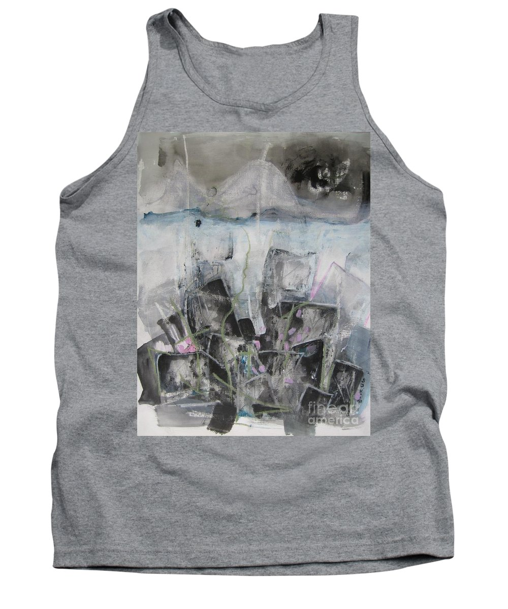 Cemetery Tank Top featuring the painting Three Arms by Seon-Jeong Kim