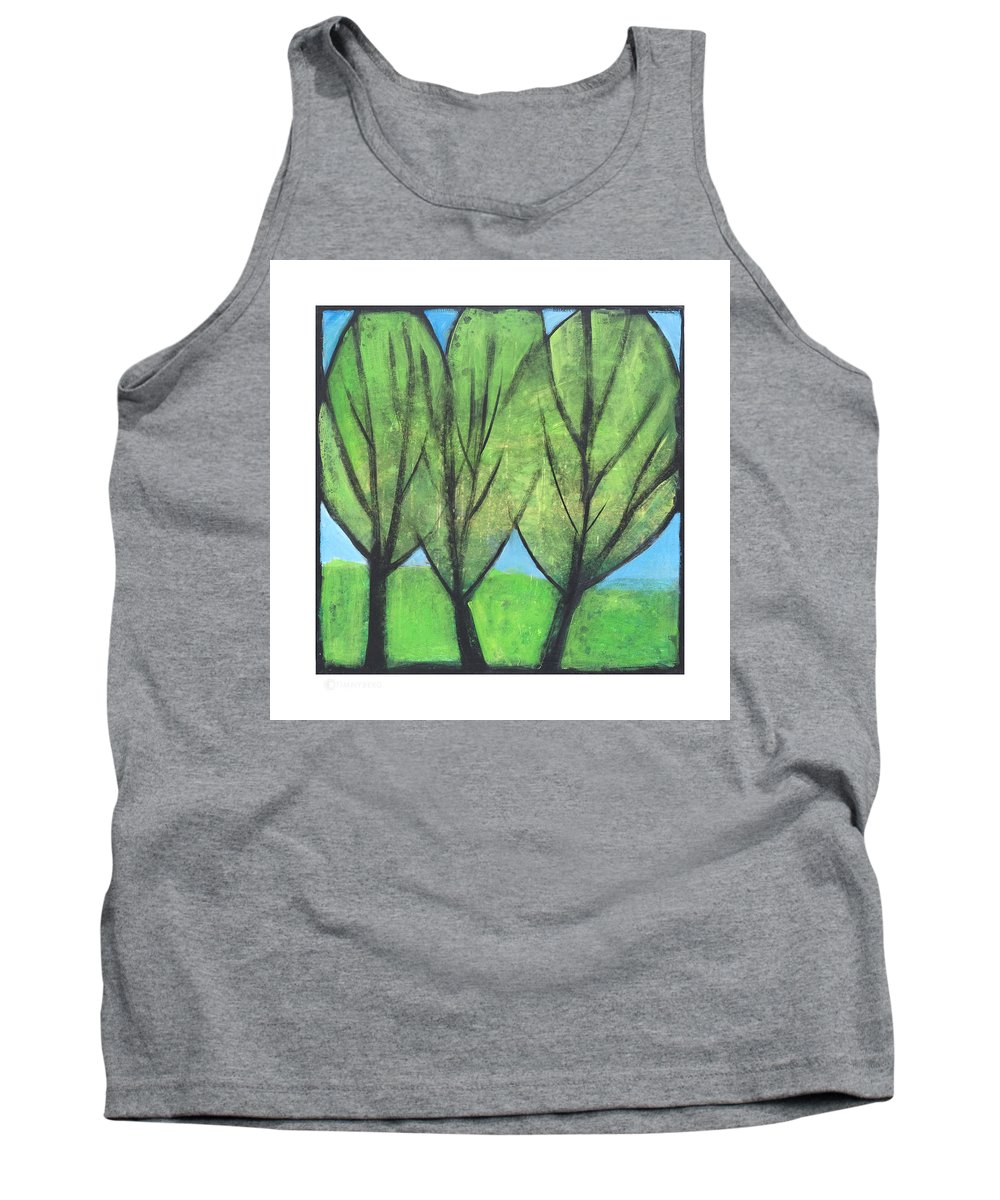 Trees Tank Top featuring the painting Three Sisters by Tim Nyberg