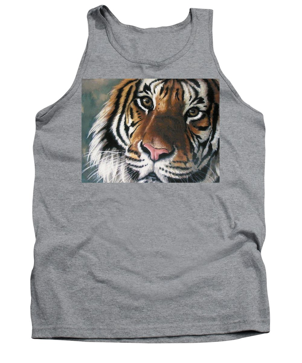 Tiger Tank Top featuring the pastel Tigger by Barbara Keith