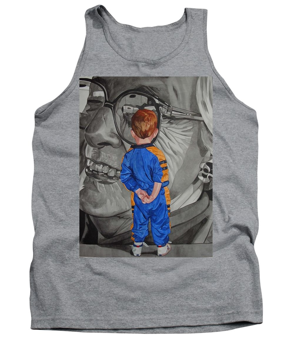 Children Tank Top featuring the painting Timeless Contemplation by Valerie Patterson