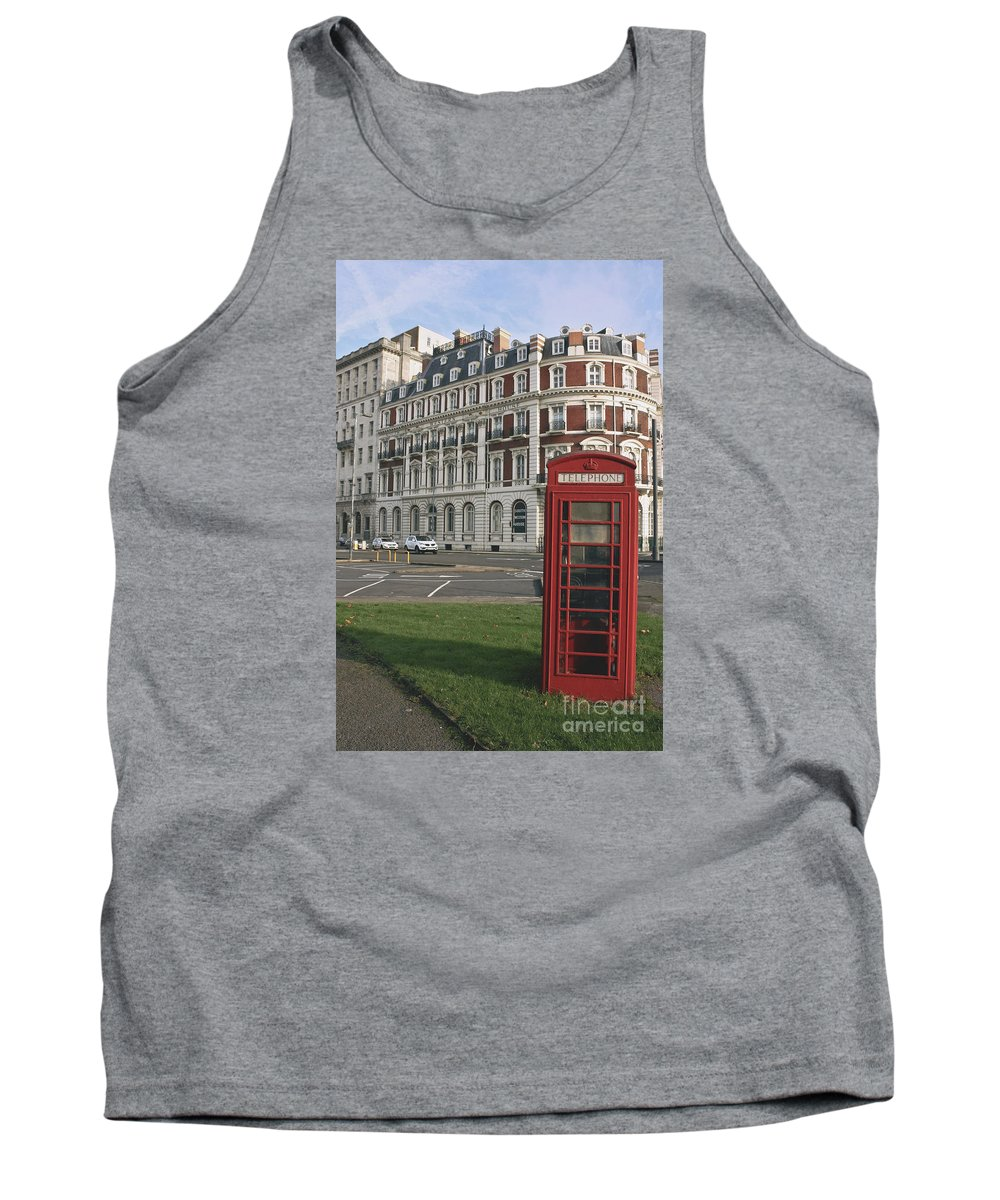 Titanic Tank Top featuring the photograph Titanic Hotel And Red Phone Box by Terri Waters