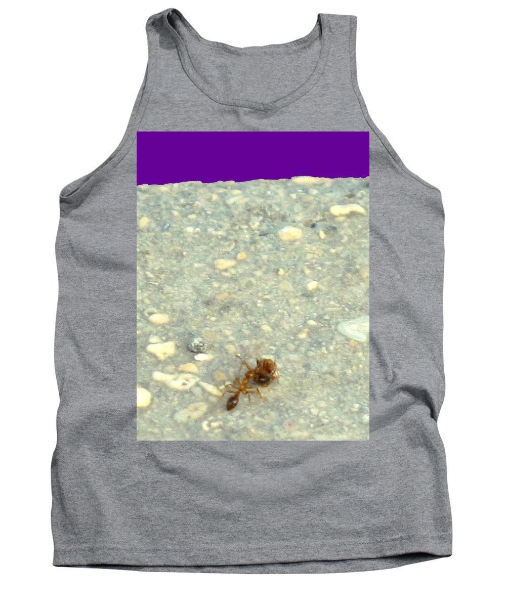 Ant Tank Top featuring the photograph To The Edge by Ian MacDonald