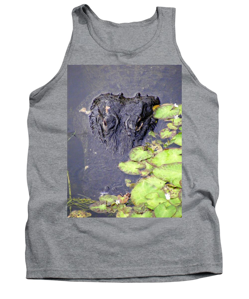 Swamp Tank Top featuring the photograph Too Close For Comfort by Ed Smith
