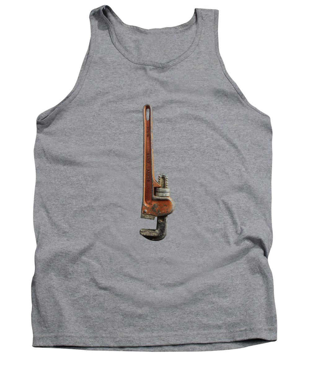 Antique Tank Top featuring the photograph Tools On Wood 70 by YoPedro