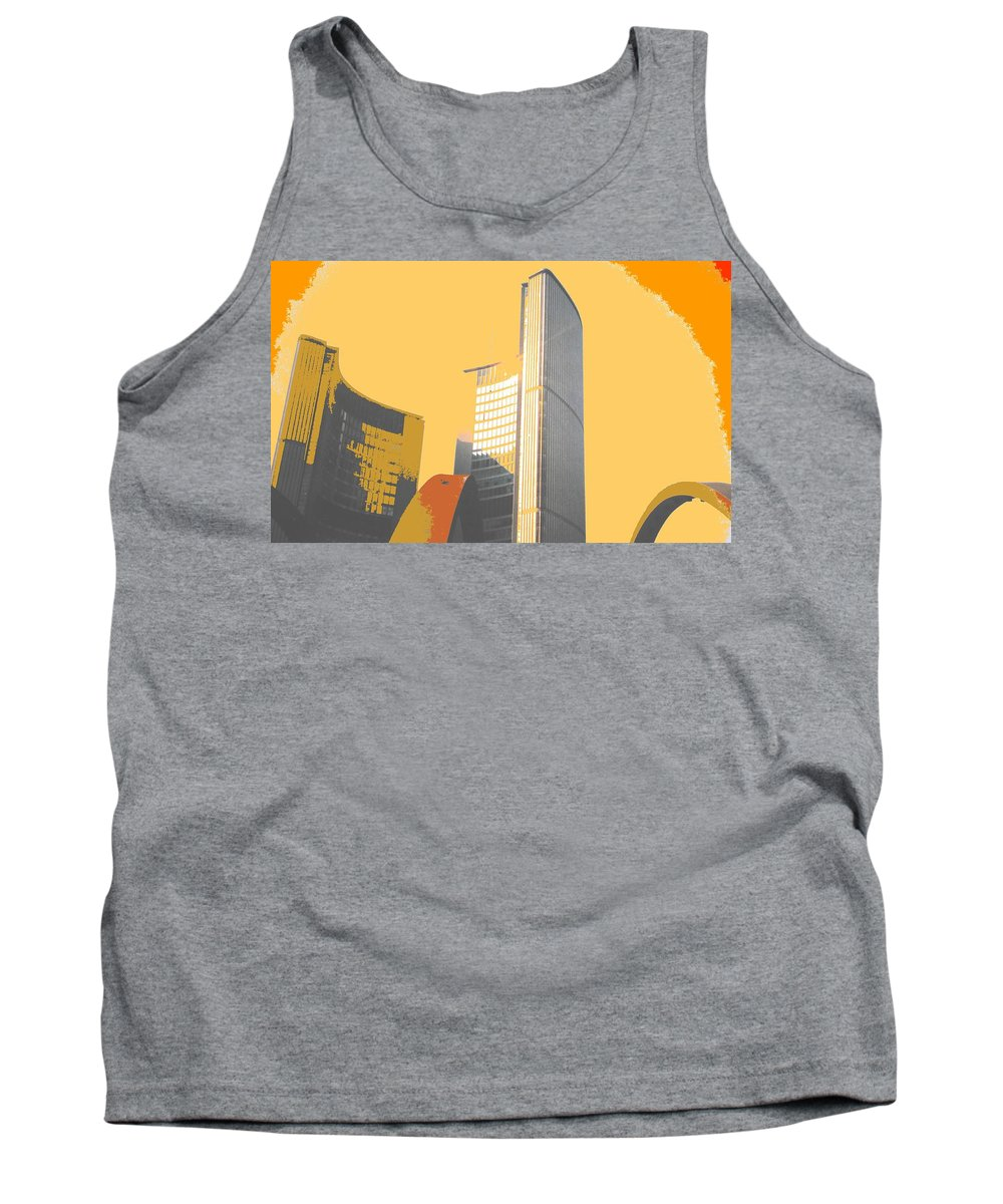 Toronto Tank Top featuring the photograph Toronto City Hall Arches by Ian MacDonald
