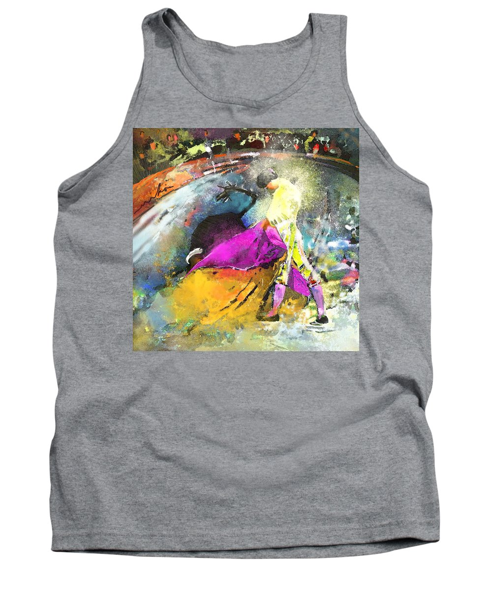 Animals Tank Top featuring the painting Toroscape 28 by Miki De Goodaboom