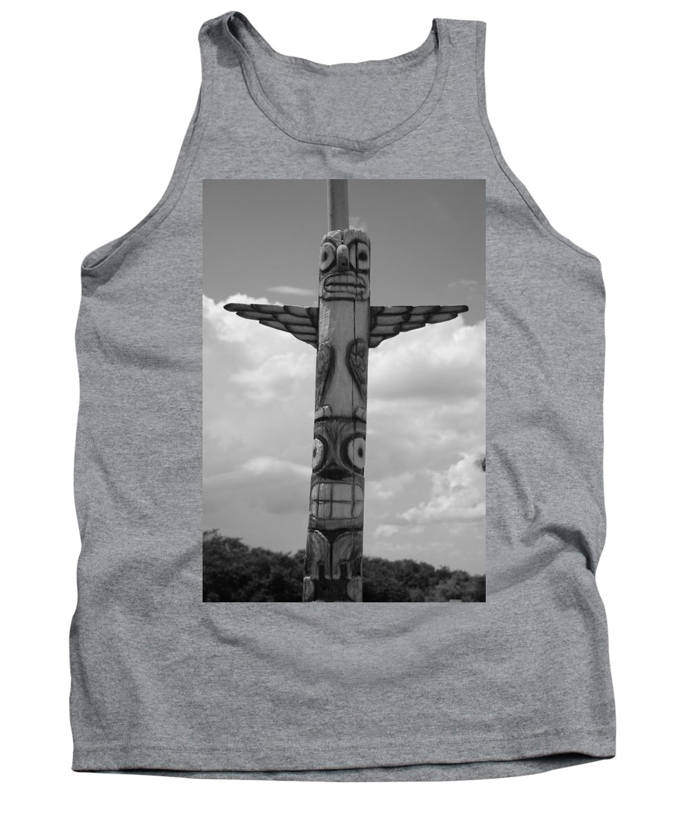 Black And White Tank Top featuring the photograph Totum by Rob Hans