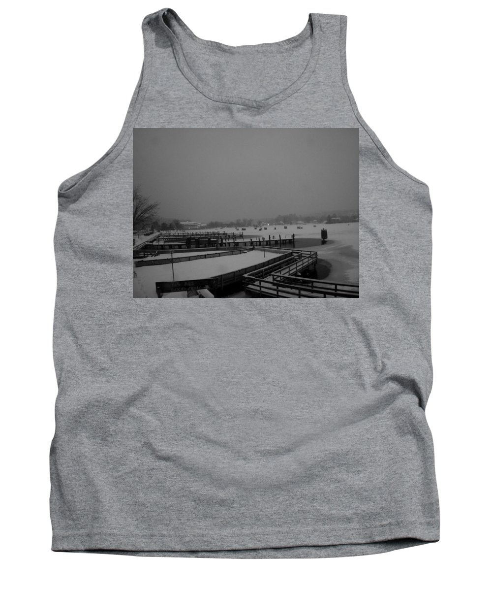 Meredith Nh Tank Top featuring the photograph Town Docks-bob Houses by Michael Mooney