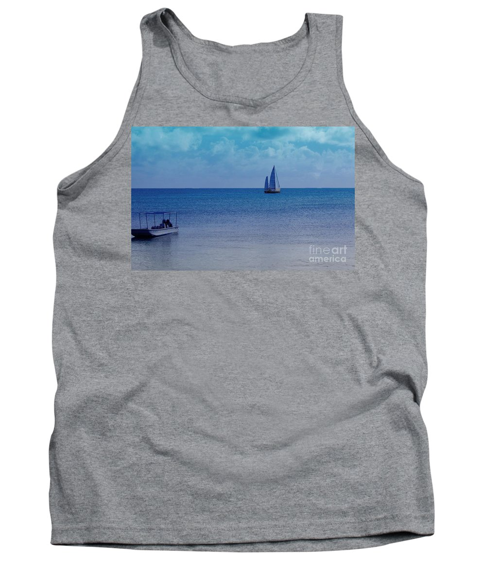Water Tank Top featuring the photograph Tranquil Blue by Debbi Granruth