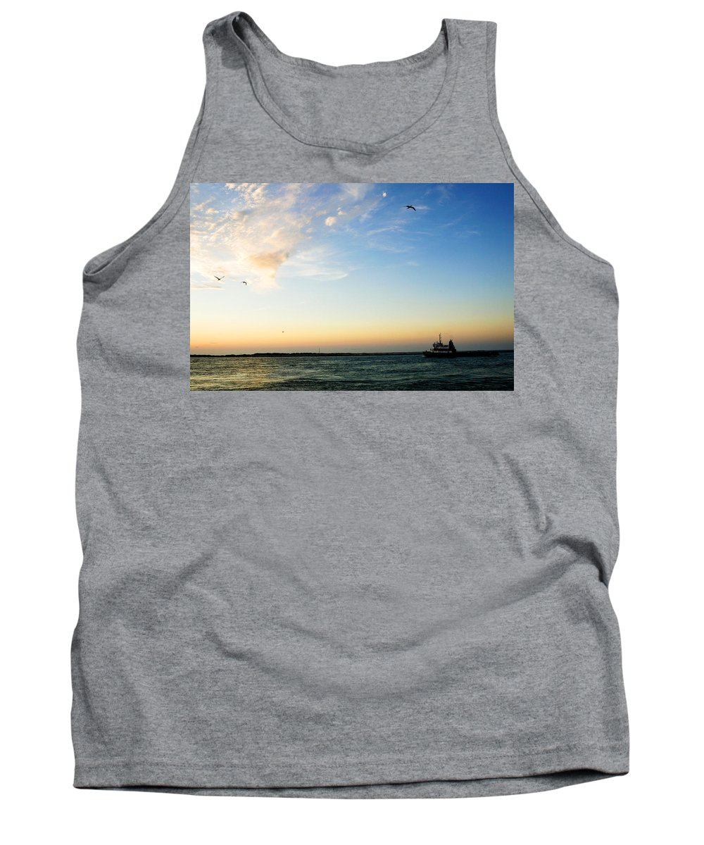 Sip Tank Top featuring the photograph Travels At Sunset by Marilyn Hunt