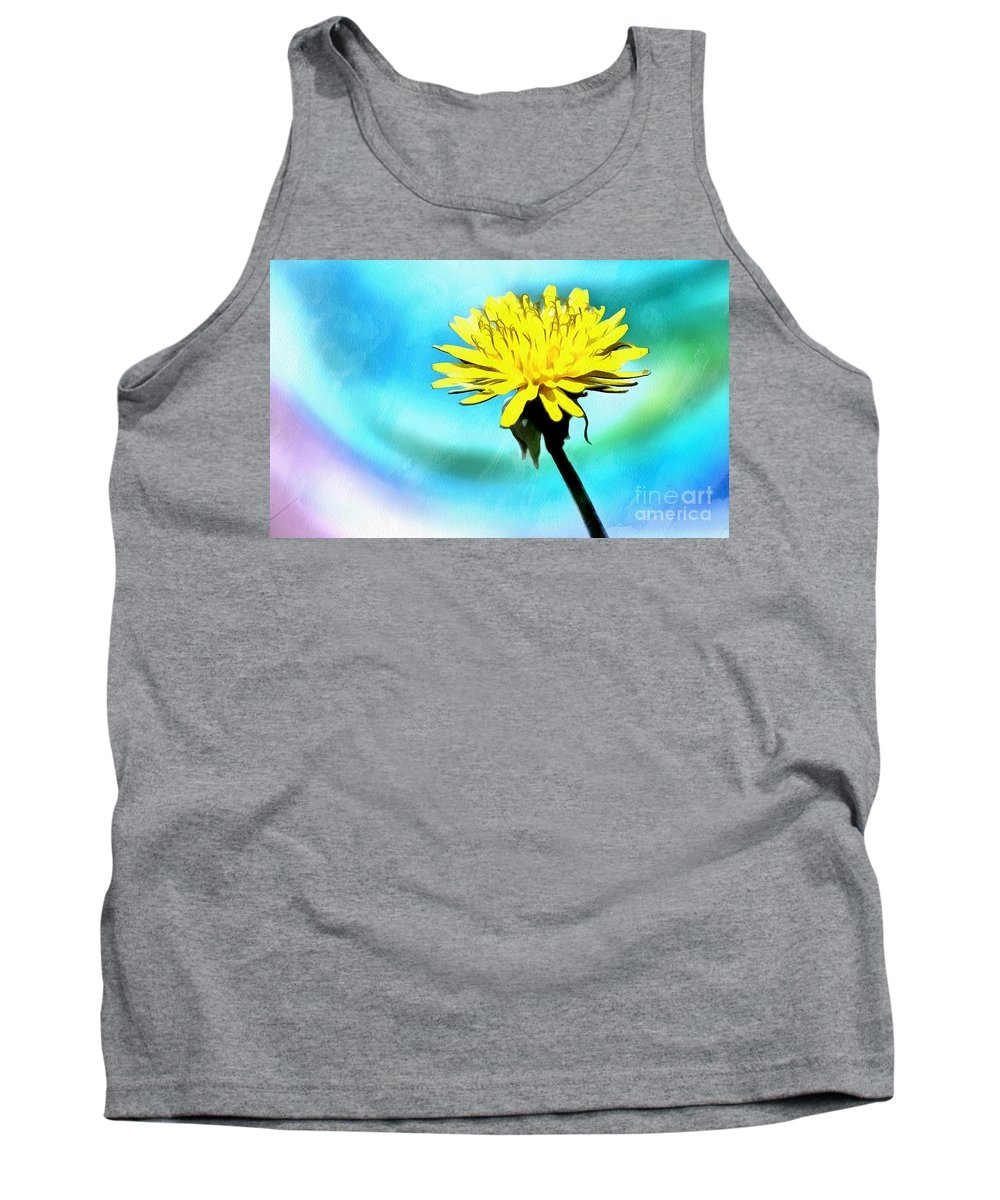 Dandelion Tank Top featuring the photograph Treasure In Nature by Krissy Katsimbras