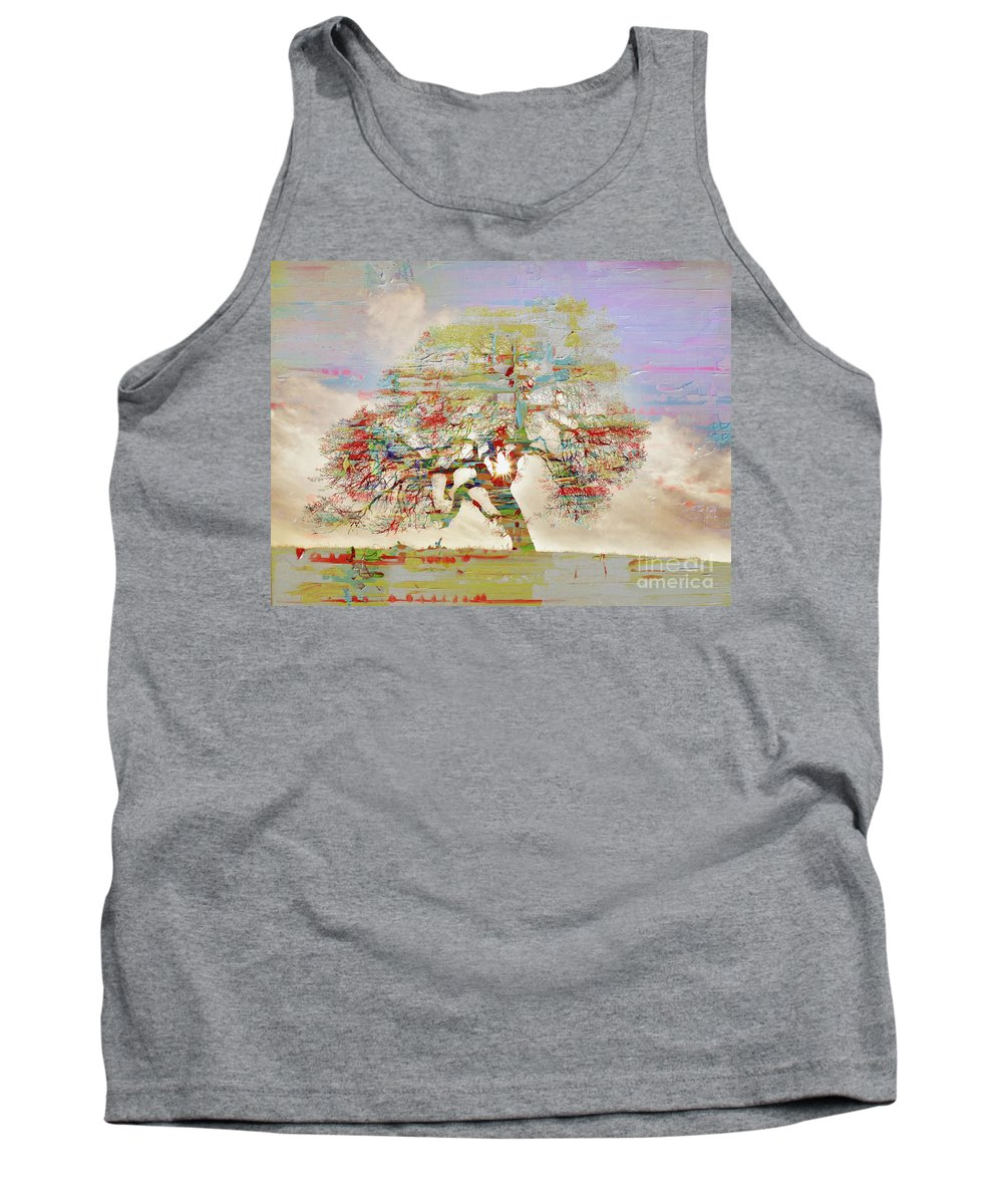 Painting Tank Top featuring the painting Tree Art 54tr by Gull G