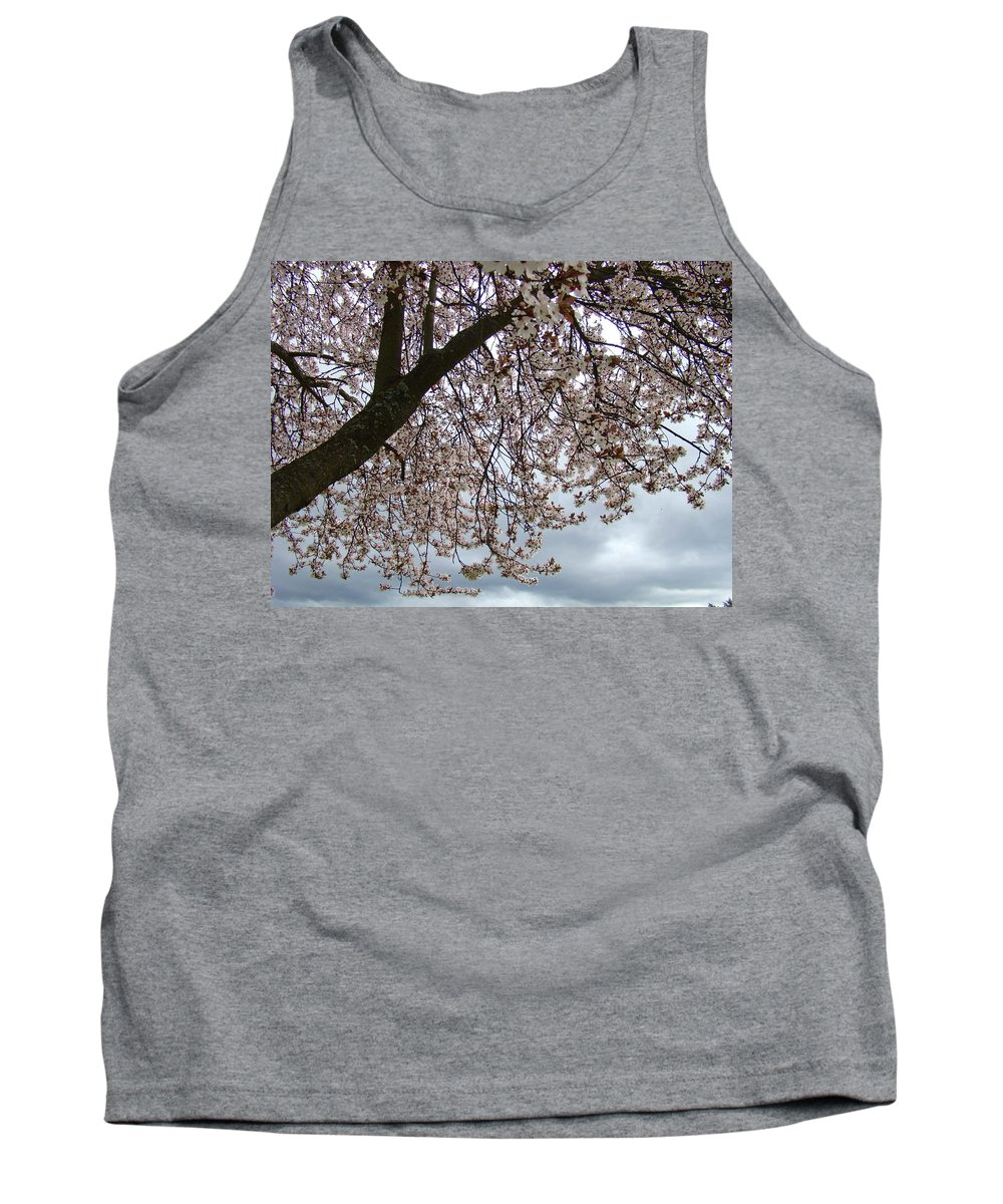 �blossoms Artwork� Tank Top featuring the photograph Tree Blossoms Landscape 11 Spring Blossoms Art Prints Giclee Sky Storm Clouds by Baslee Troutman