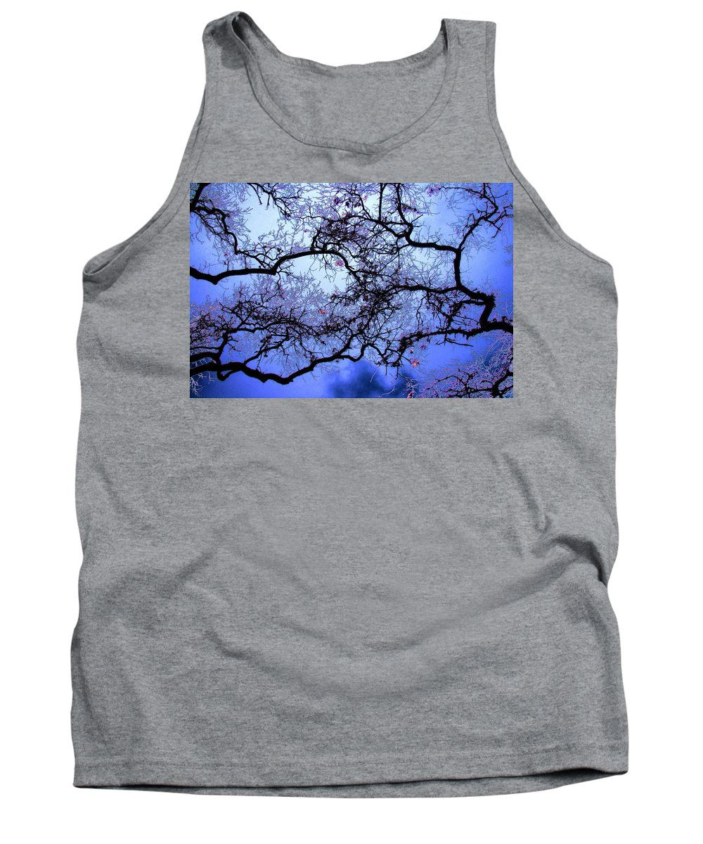 Scenic Tank Top featuring the photograph Tree Fantasy In Blue by Lee Santa