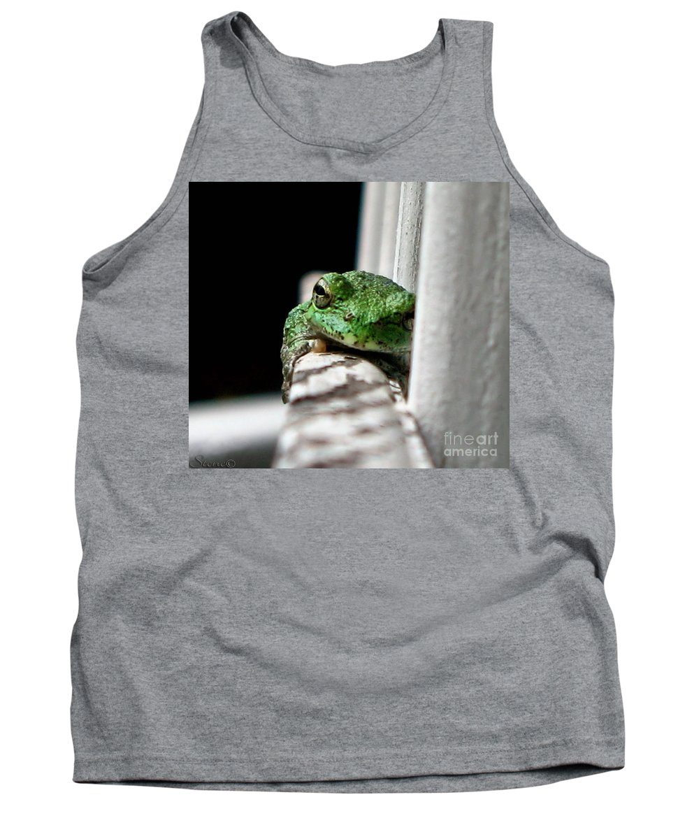 Tree Frog Tank Top featuring the photograph Tree Frog by September Stone