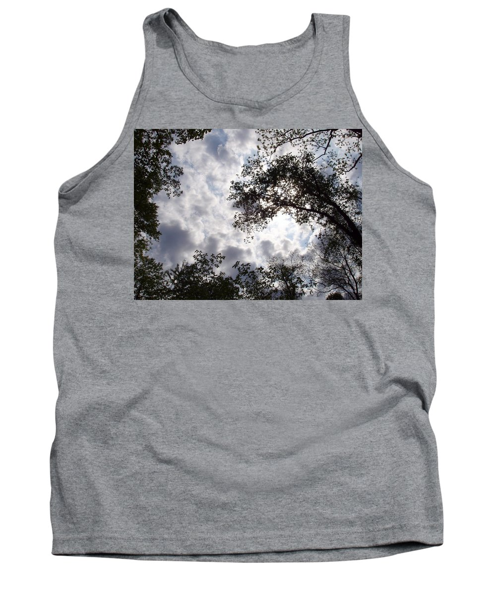 Tree Tank Top featuring the photograph Tree Swirl by Deborah Crew-Johnson