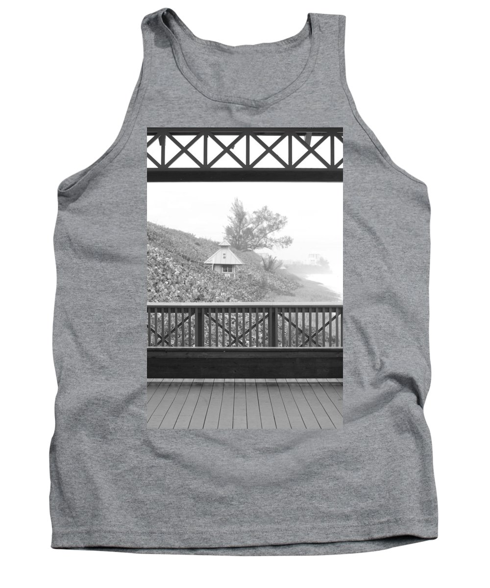 Black And White Tank Top featuring the photograph Trees On The Hill by Rob Hans