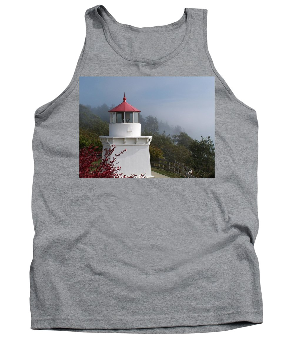 Lighthouse Tank Top featuring the photograph Trinidad Head Lighthouse by Gale Cochran-Smith