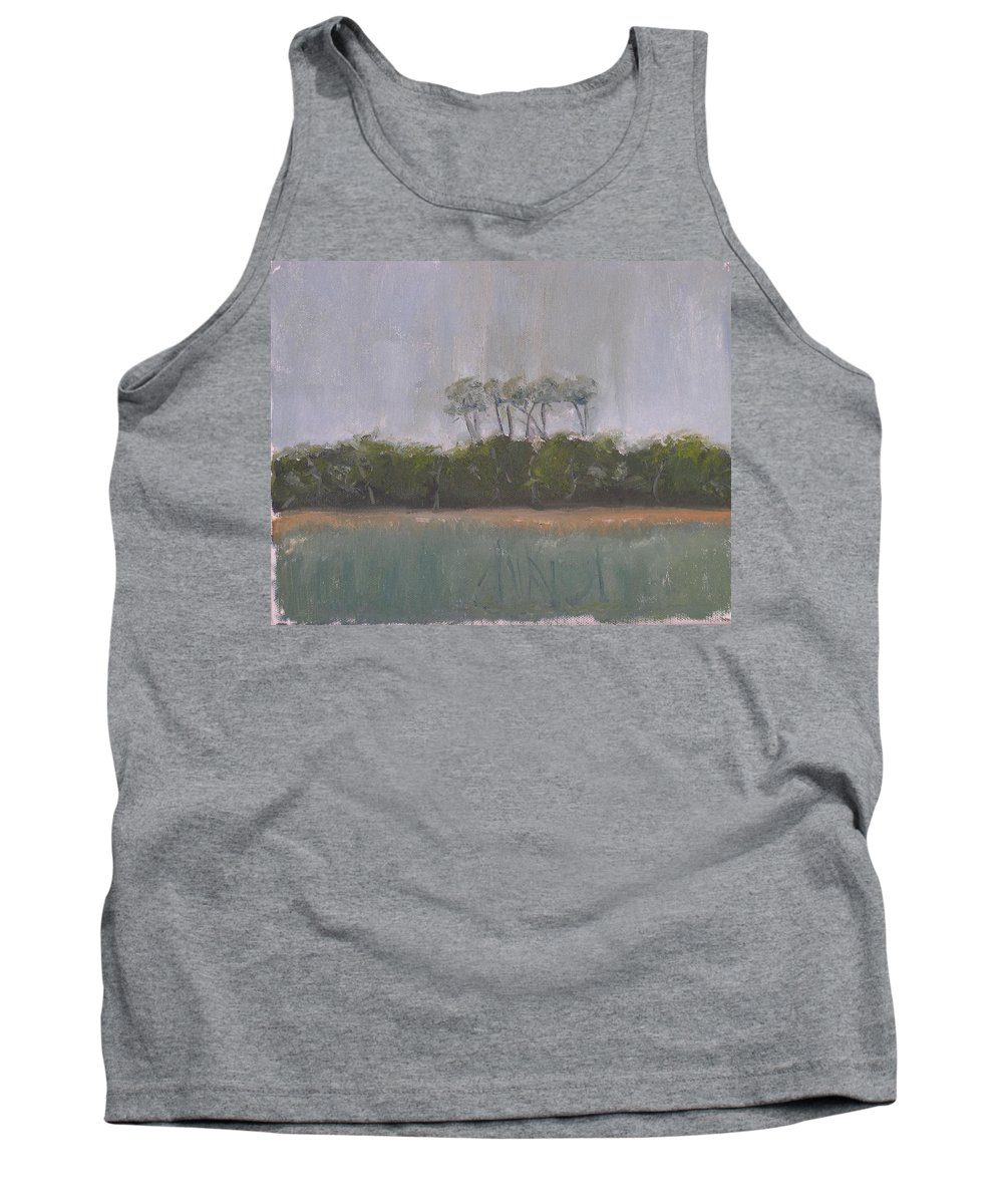 Landscape Beach Coast Tree Water Tank Top featuring the painting Tropical Storm by Patricia Caldwell