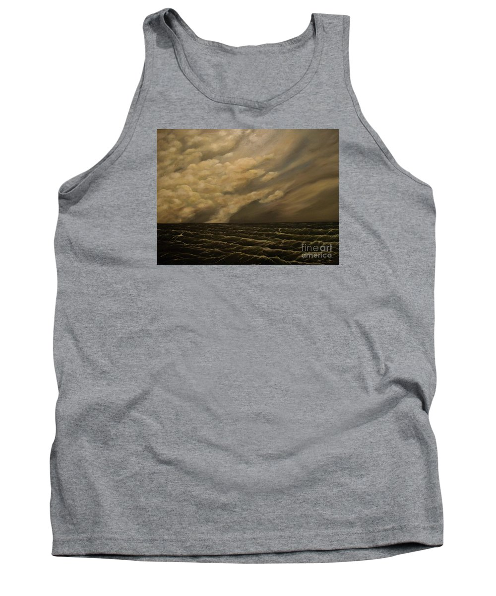 Sky Tank Top featuring the painting Tuesday Morning by John Stuart Webbstock