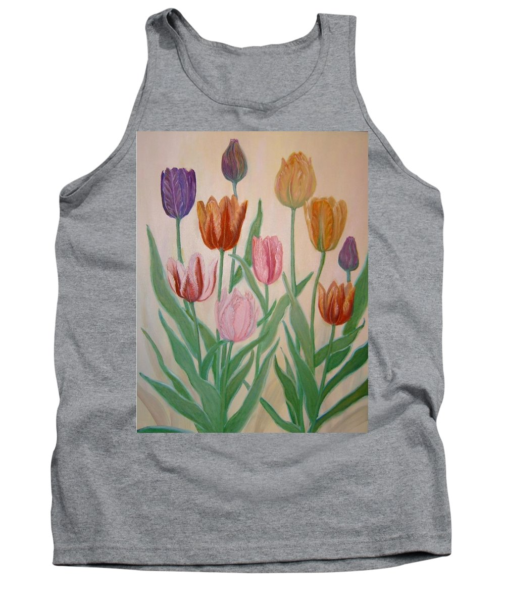 Flowers Of Spring Tank Top featuring the painting Tulips by Ben Kiger