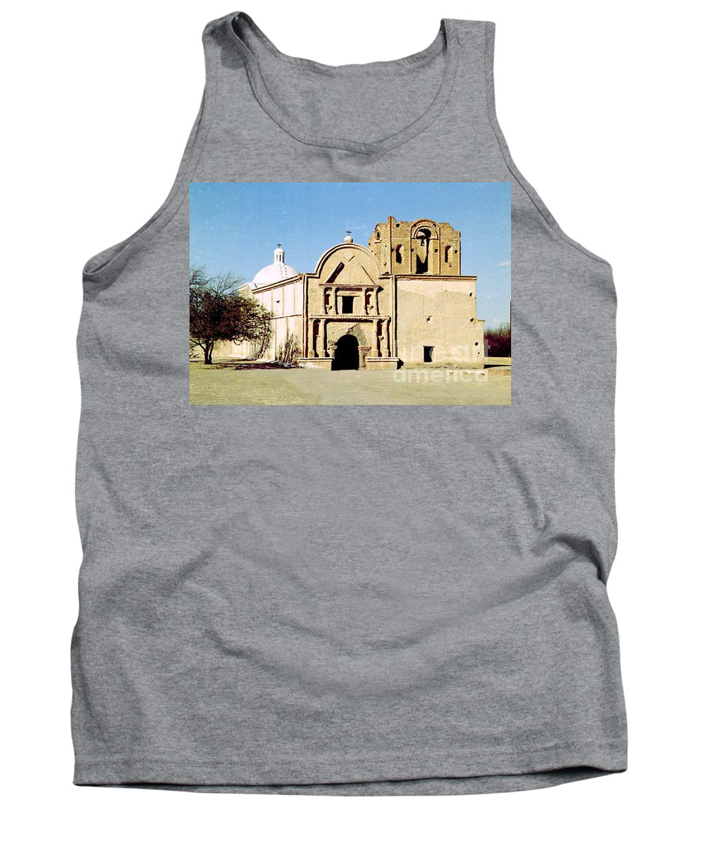 Mission Tank Top featuring the photograph Tumacacori by Kathy McClure