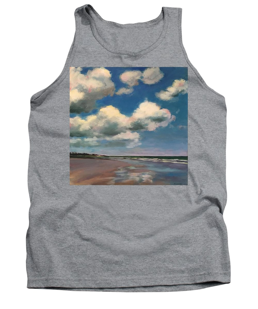 Tank Top featuring the painting Tumbling Clouds by Rachel Sunnell