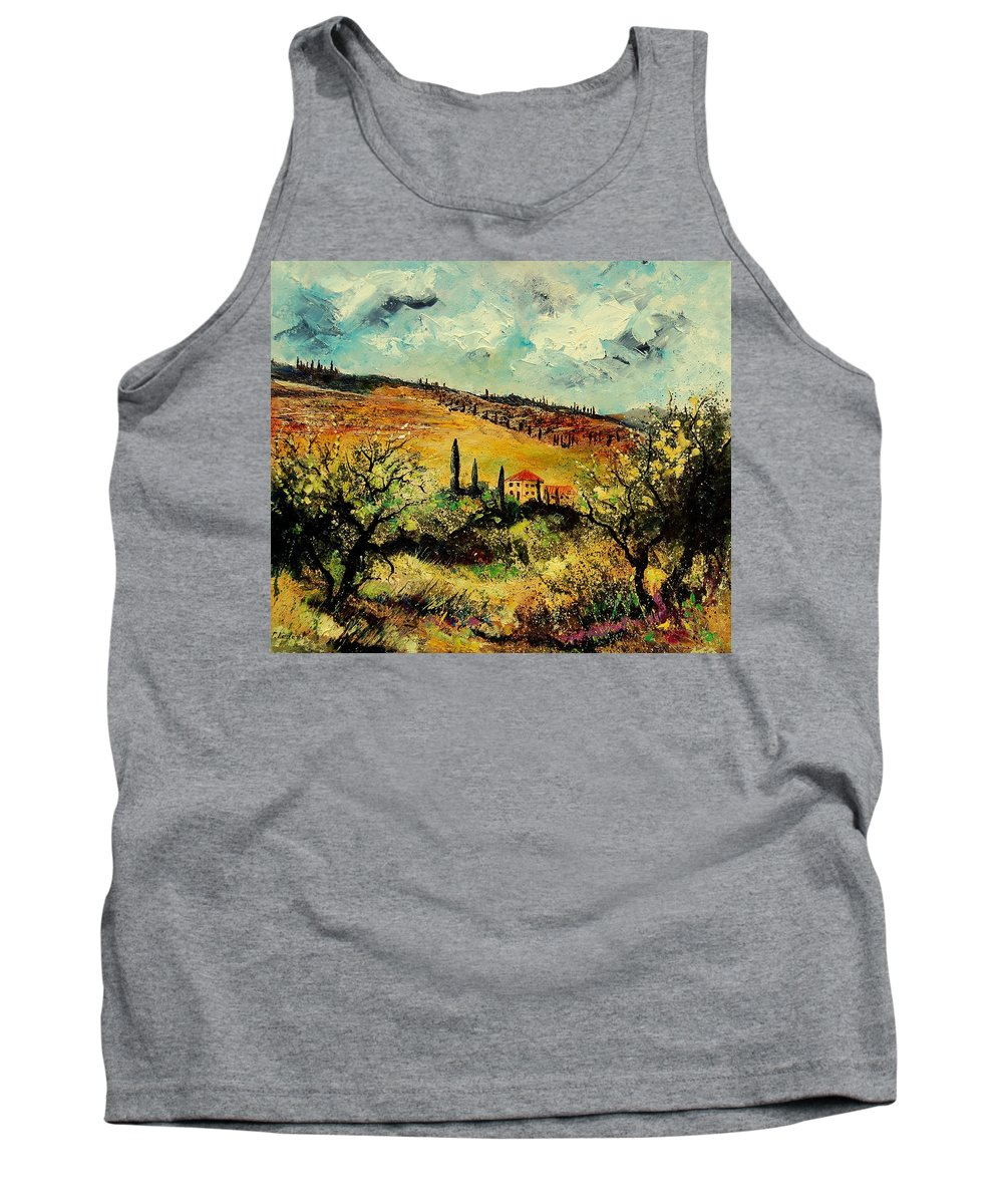 Provence Tank Top featuring the painting Tuscany 67 by Pol Ledent