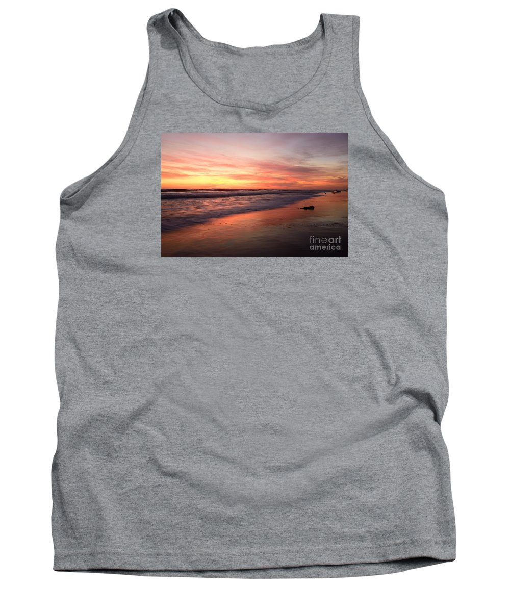 Landscapes Tank Top featuring the photograph Encinitas Waves by John F Tsumas