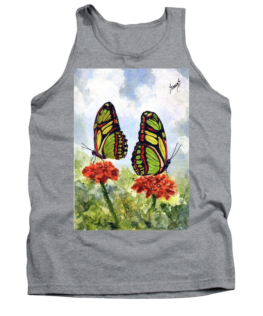 Twins Tank Top featuring the painting Twins by Sam Sidders