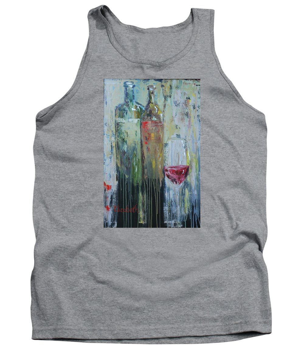 Wine Tank Top featuring the painting Two For One by Beth Maddox