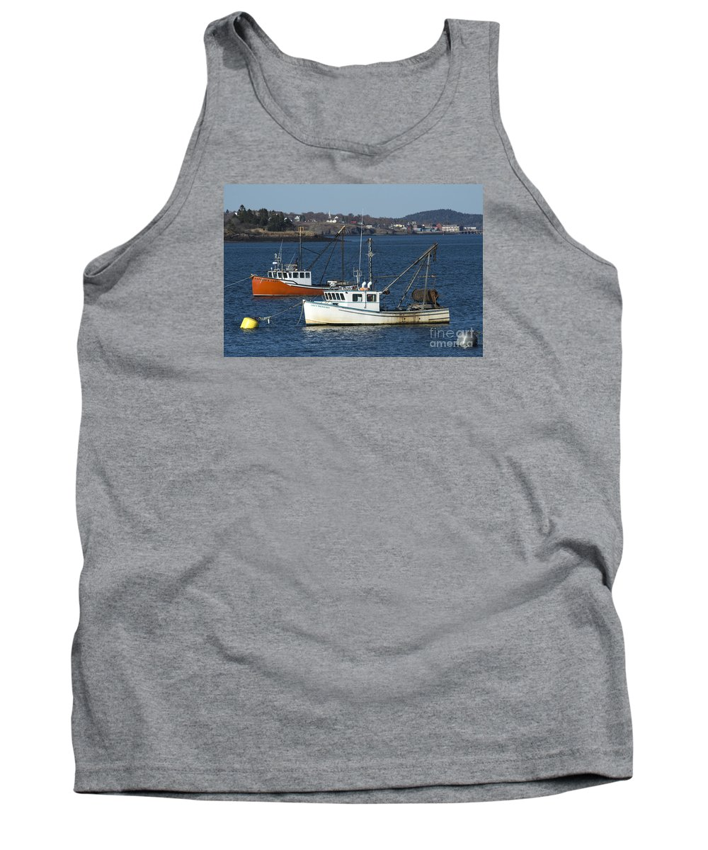 Lobster Tank Top featuring the photograph Two Lobster Boats by Alana Ranney
