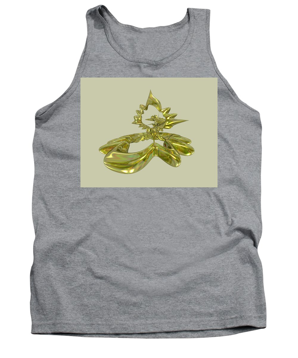Fractal Tank Top featuring the digital art UFO by Frederic Durville